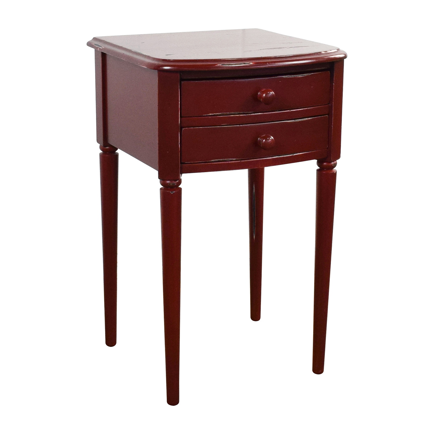 Deep Red 2-Drawer Nighstand for sale