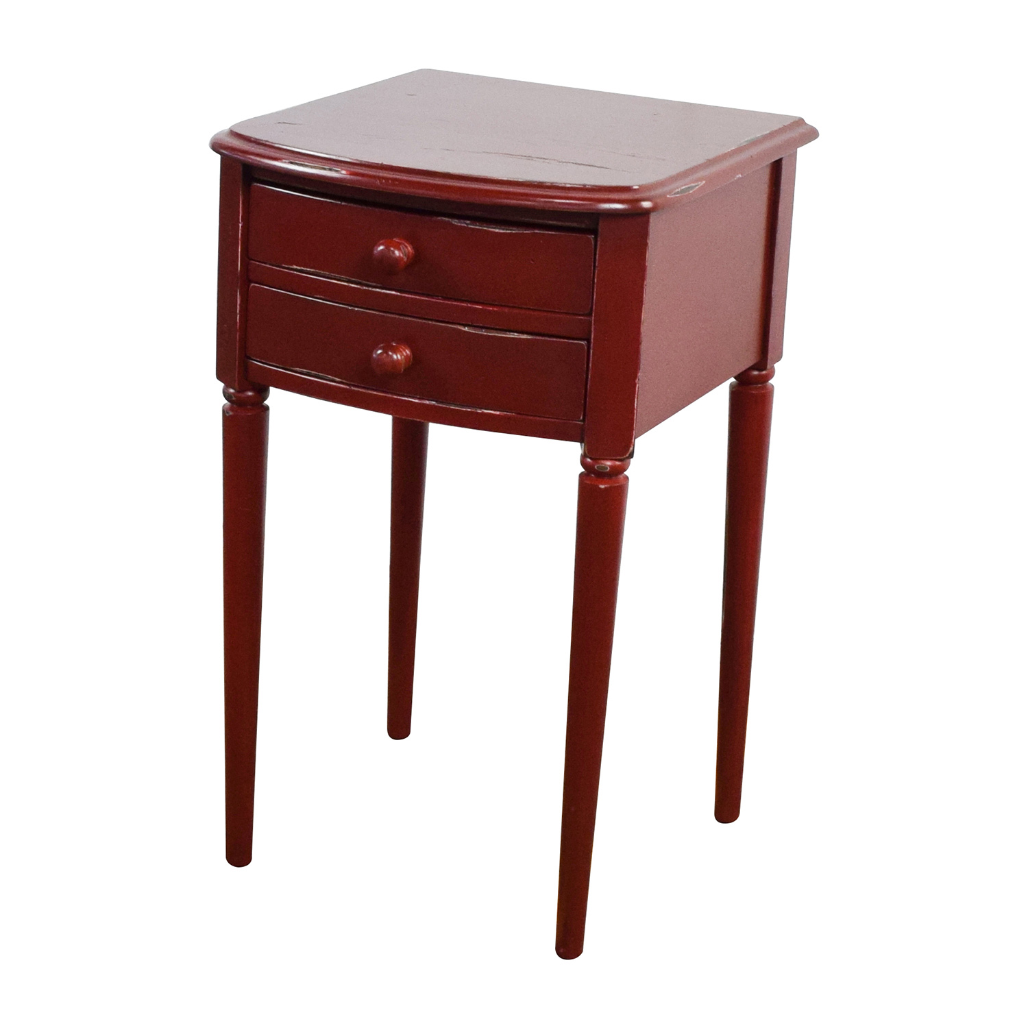 buy Deep Red 2-Drawer Nighstand