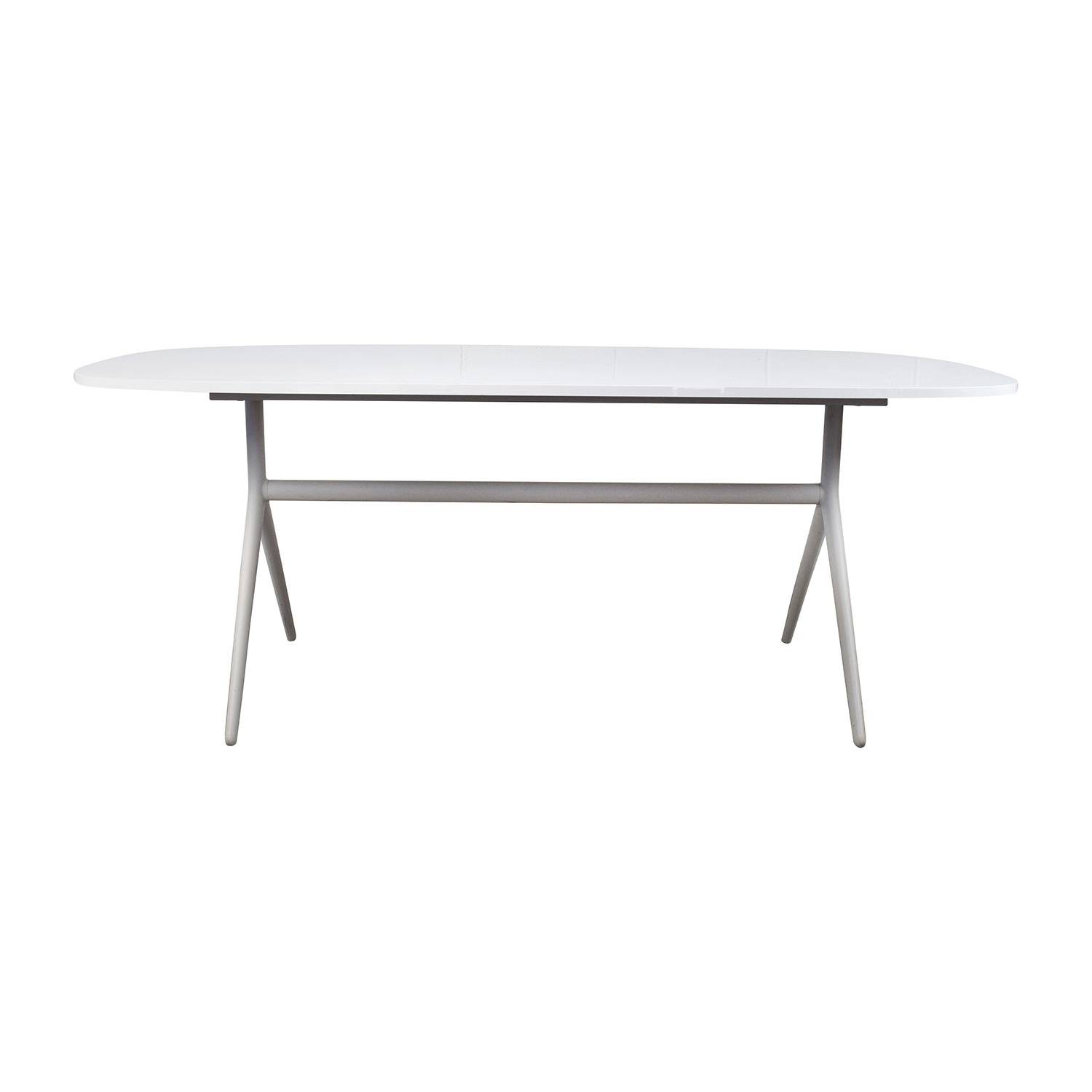 Oblong White Table coupon