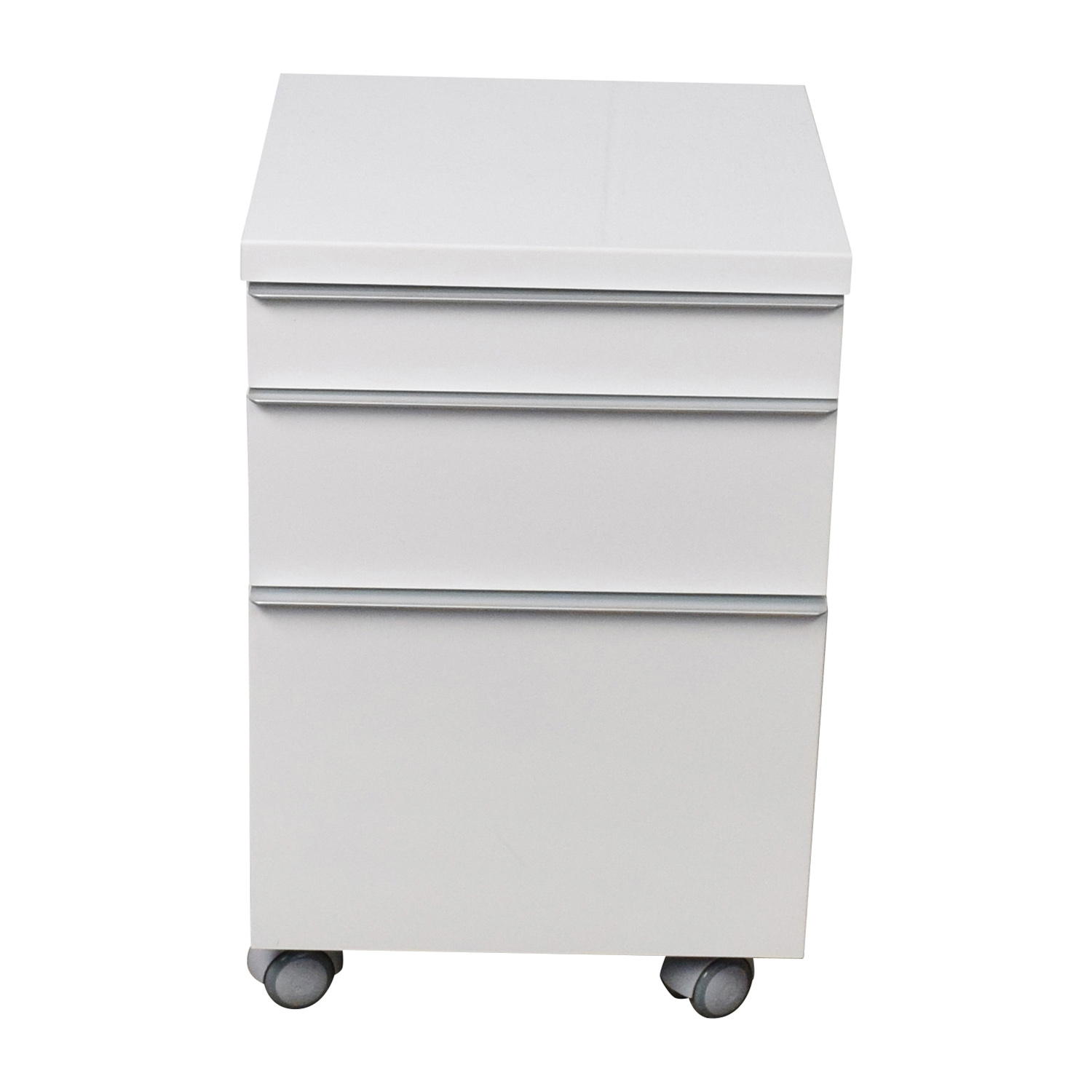 White 3-drawer Filing Cabinet / Storage