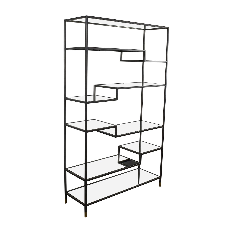 57 Off World Market World Market Asymmetrical Kali Glass And Metal Shelves Storage