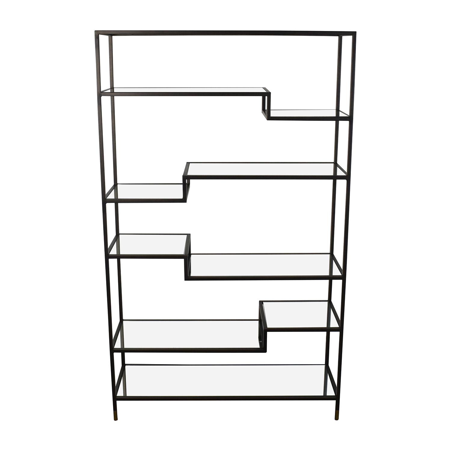 World Market World Market Asymmetrical Kali Glass and Metal Shelves on sale