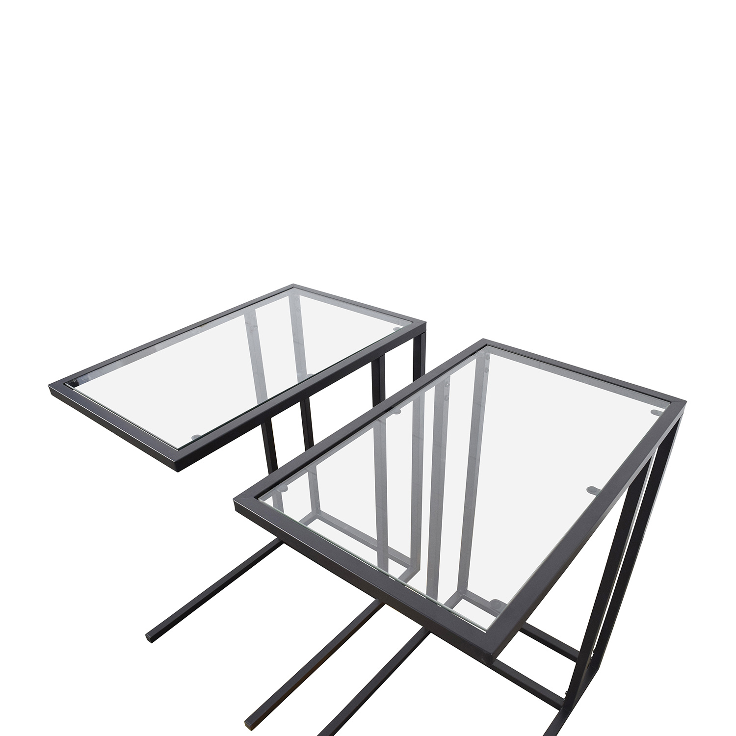 67% OFF - IKEA IKEA Glass End Tables / Tables
