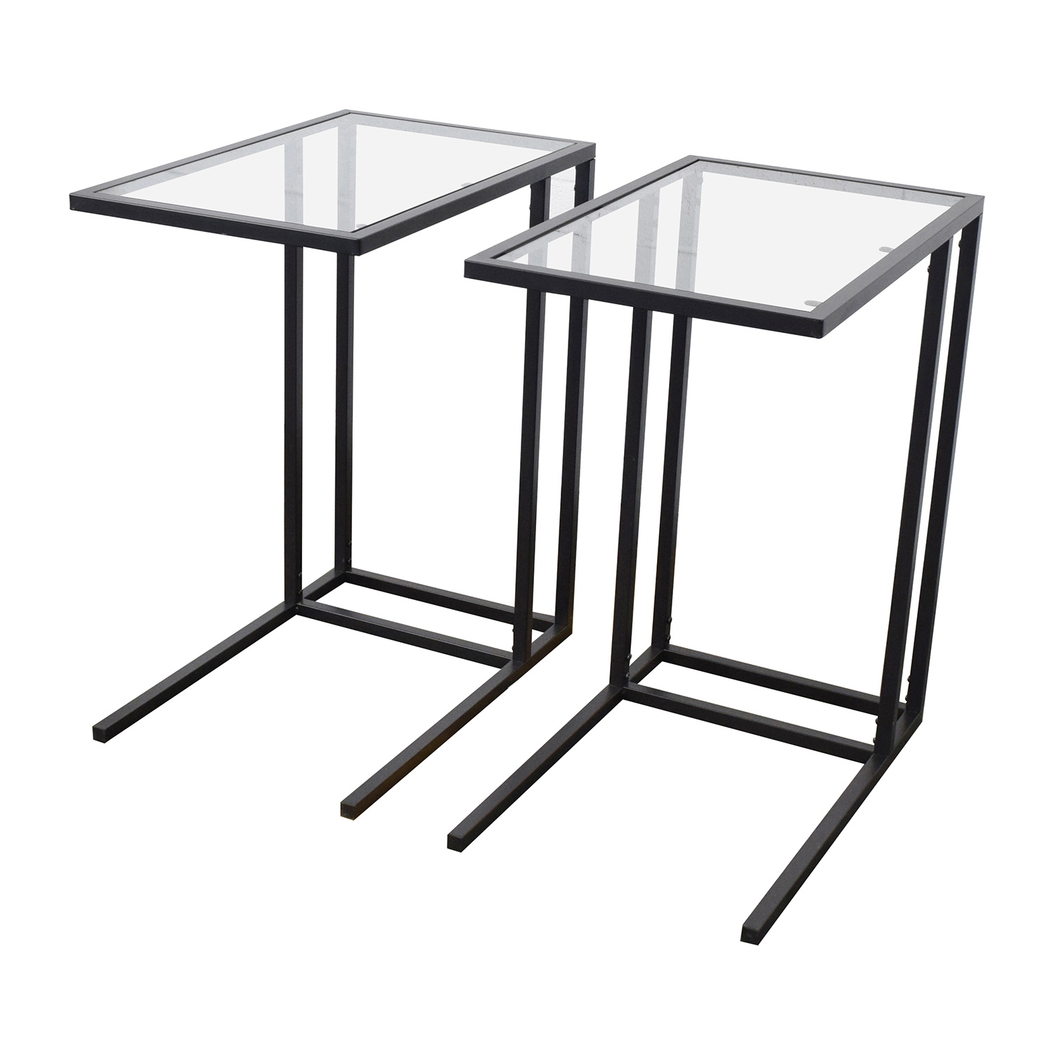 67 off ikea ikea glass end tables tables for Ikea glass table tops