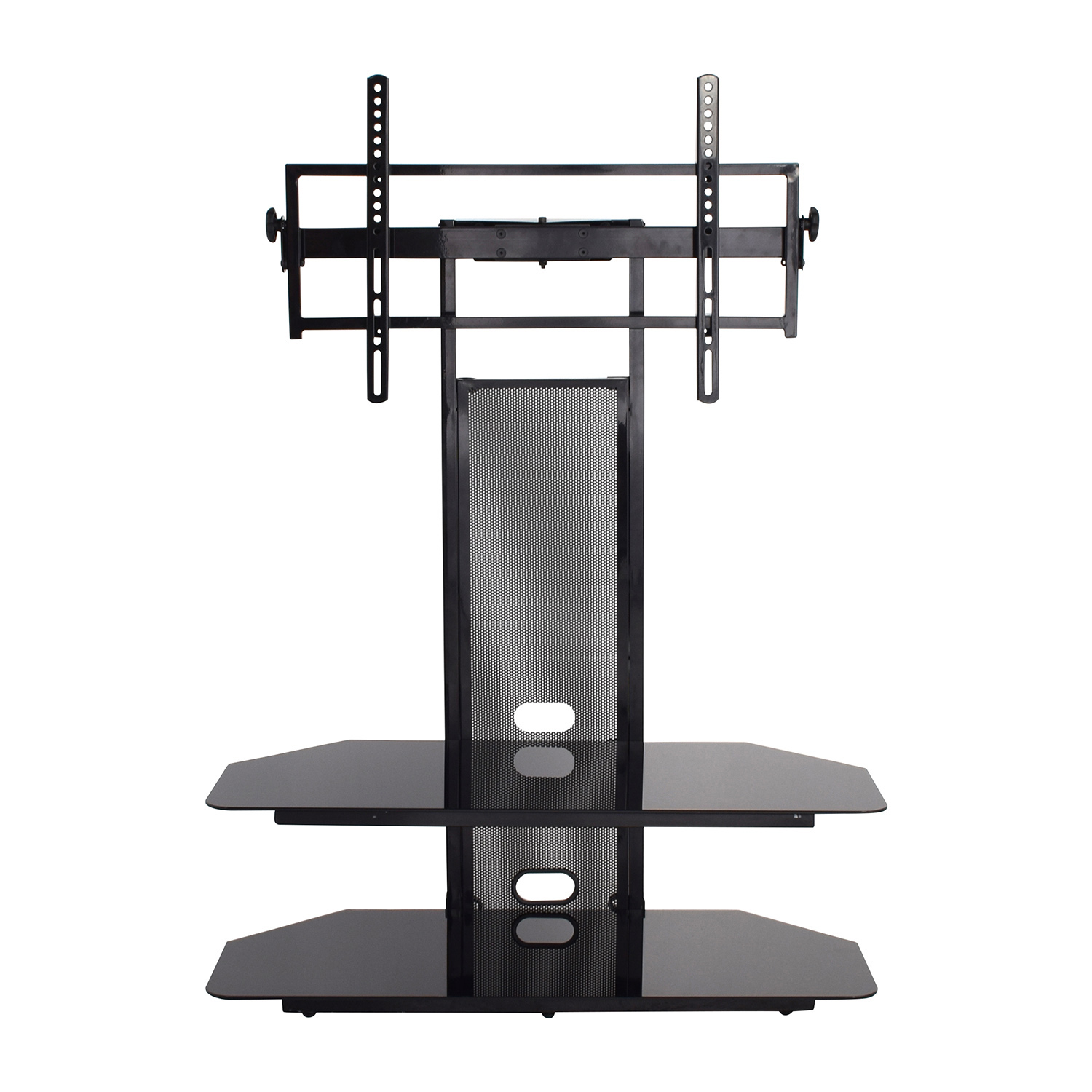 buy Transdeco Transdeco Glass Black TV Stand online