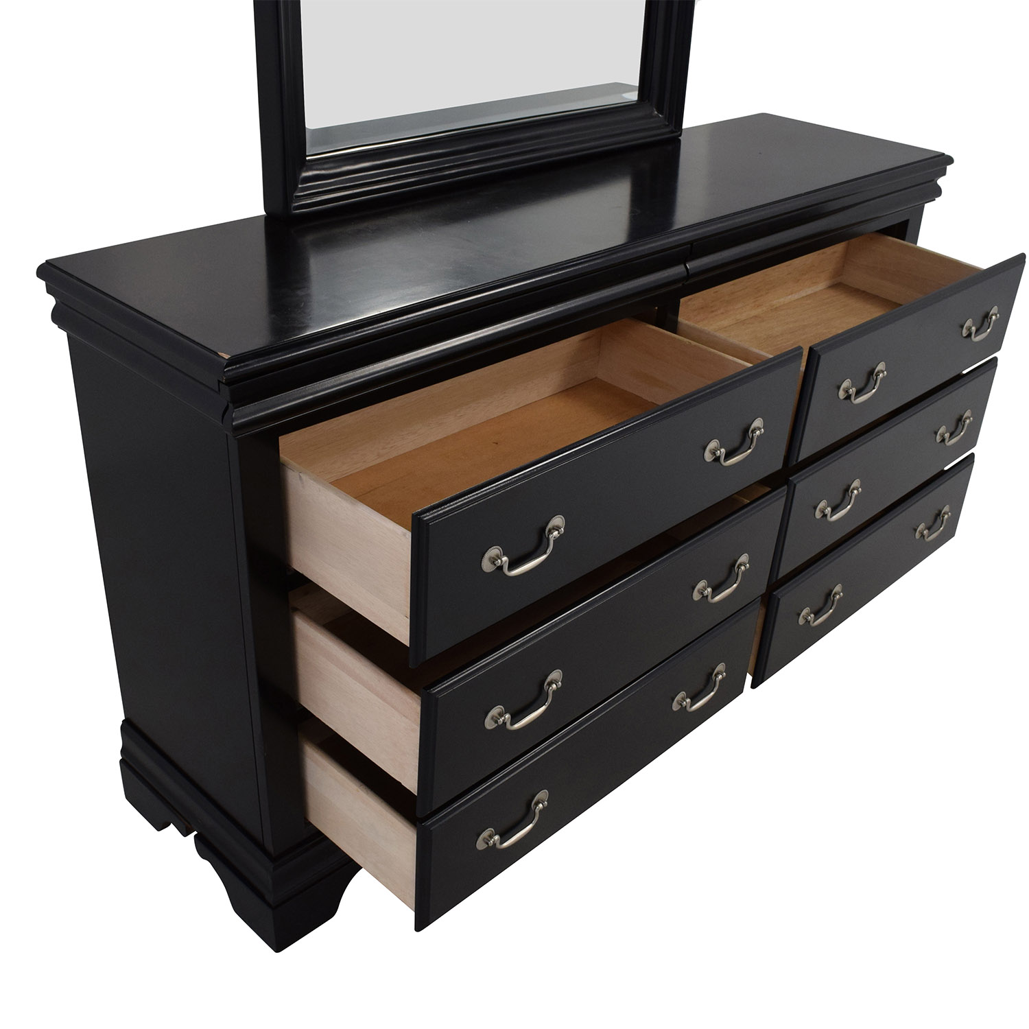 58 Off Bob 39 S Furniture Bob 39 S Furniture Louie Dresser With Mirror Storage
