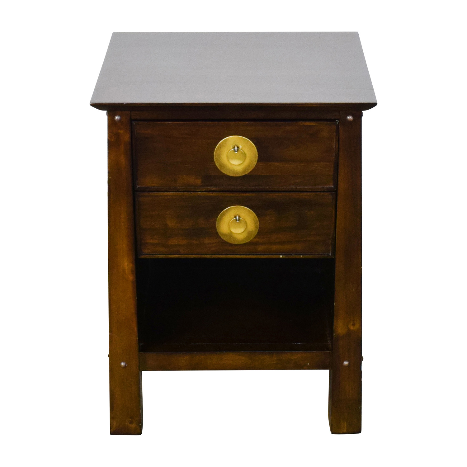 79% OFF   Pier 1 Pier 1 Imports Shanghai Collection Espresso Nightstand /  Tables