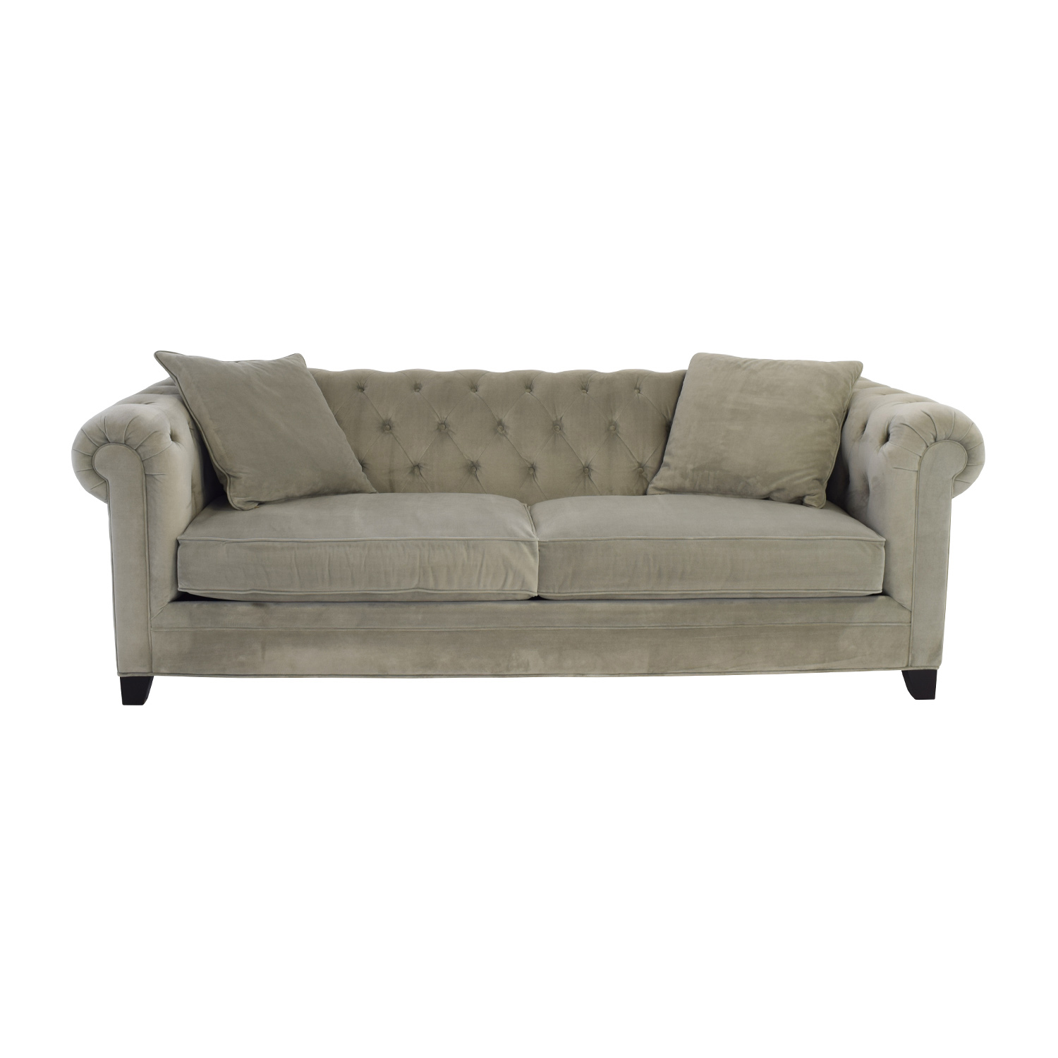 Macys Martha Stewart Collection Martha Stewart Saybridge Grey Sofa dimensions