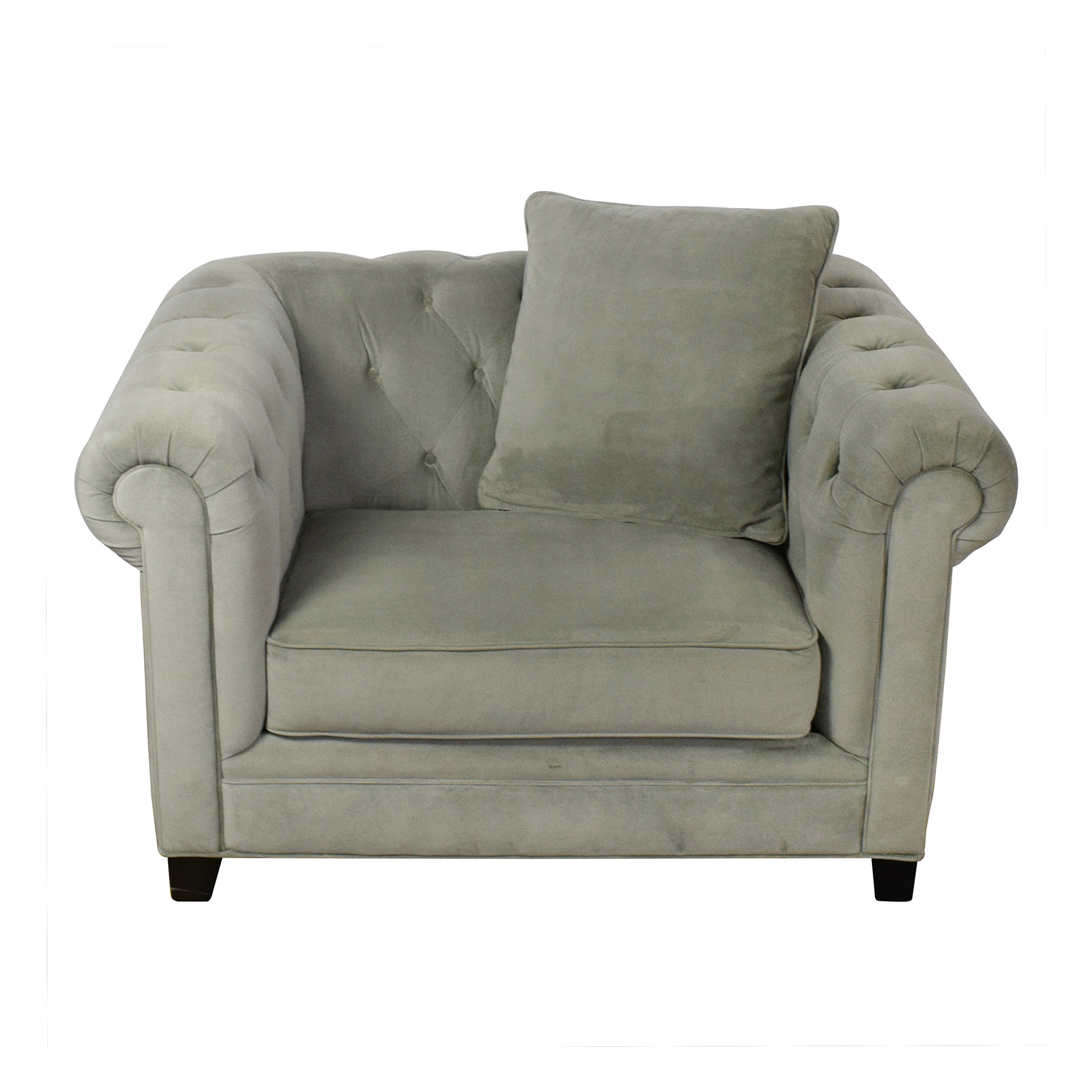 Martha Stewart Collection Martha Stewart Saybridge Tufted Accent Chair for sale