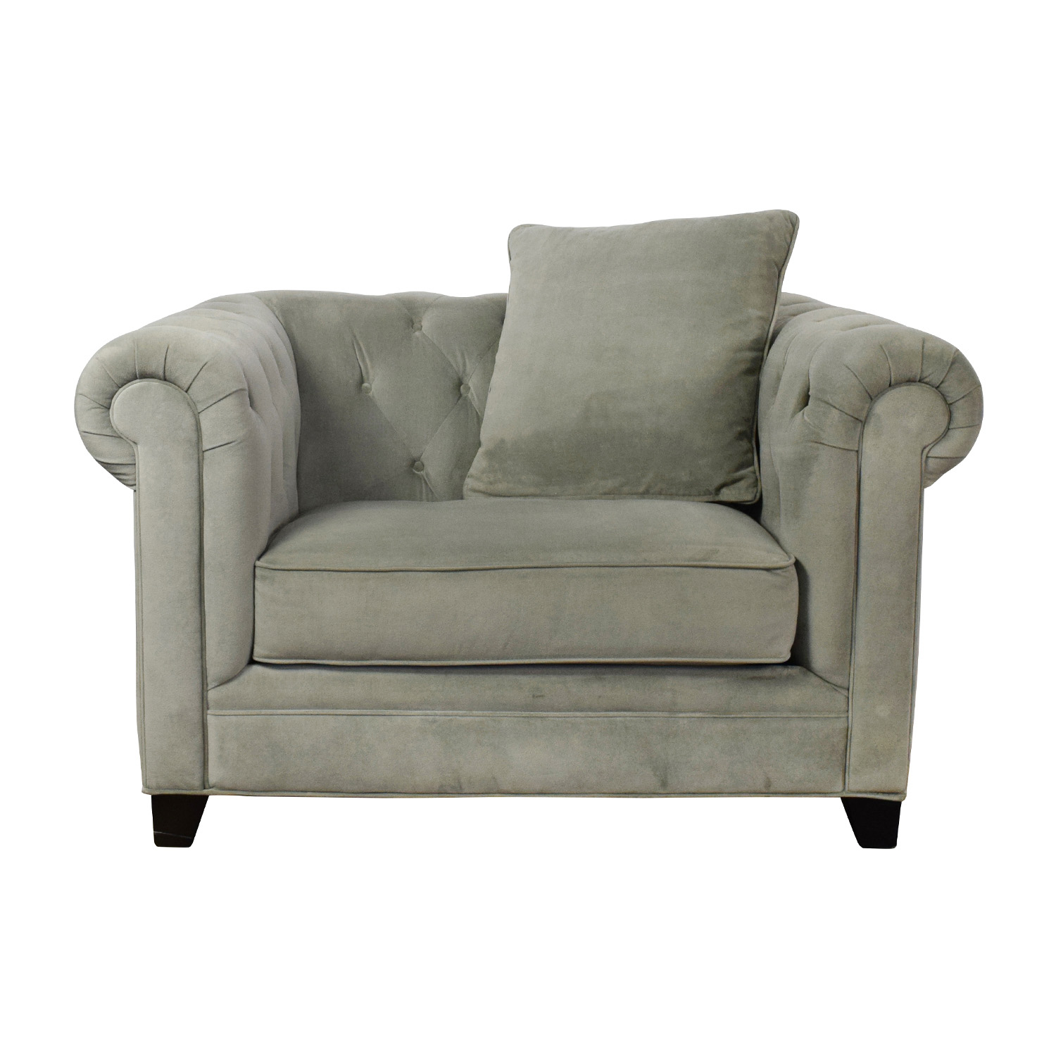 Martha Stewart Collection Martha Stewart Saybridge Tufted Accent Chair  Dimensions ...