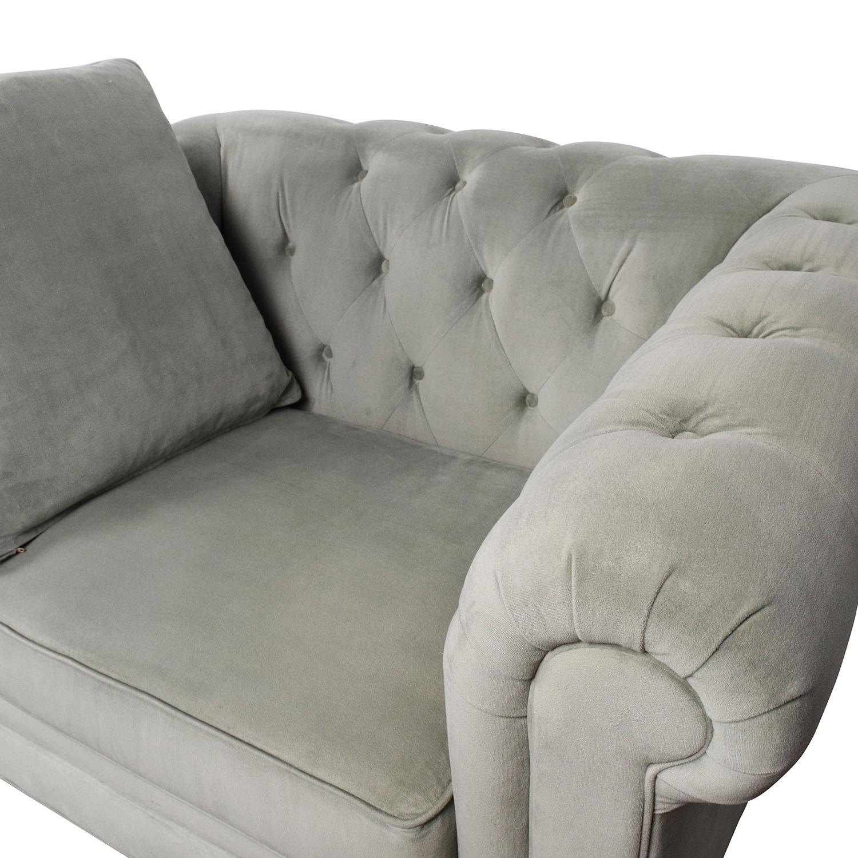 ... Martha Stewart Collection Martha Stewart Saybridge Tufted Accent Chair  ...