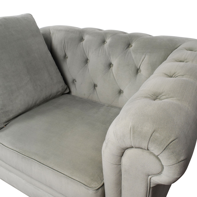 Peachy 71 Off Martha Stewart Saybridge Tufted Accent Chair Chairs Customarchery Wood Chair Design Ideas Customarcherynet