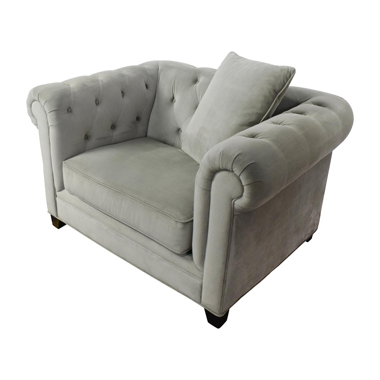 Awesome 71 Off Martha Stewart Saybridge Tufted Accent Chair Chairs Customarchery Wood Chair Design Ideas Customarcherynet