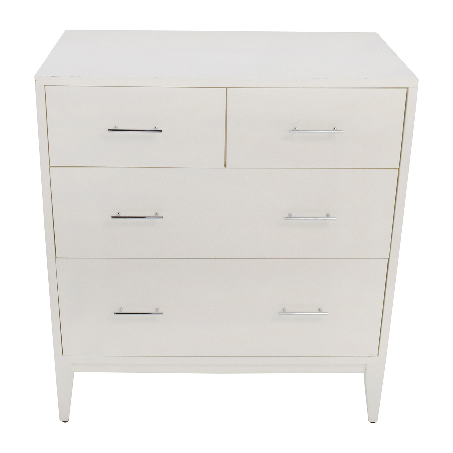 West Elm West Elm Narrow Leg 4-Drawer White Dresser white