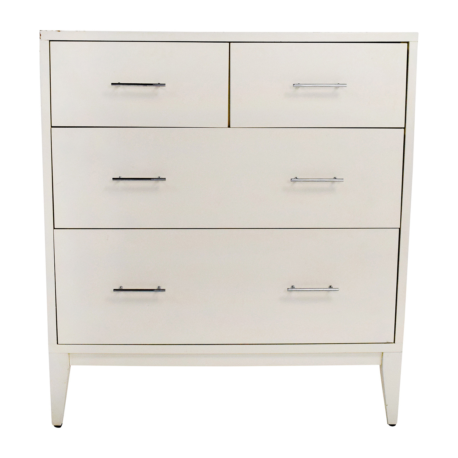 West Elm West Elm Narrow Leg 4-Drawer White Dresser price
