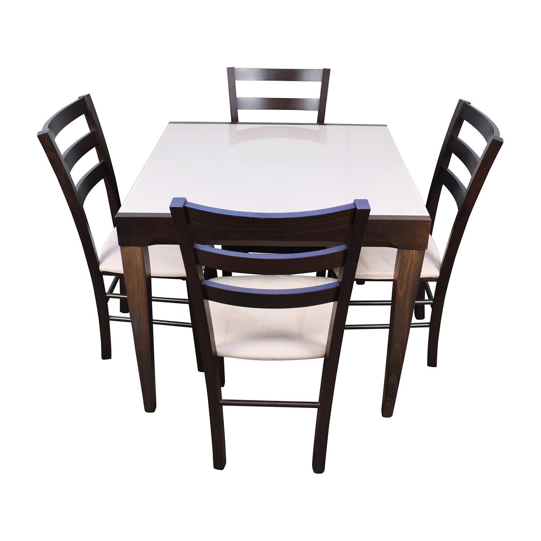 Awe Inspiring 82 Off Macys Macys Cafe Latte Five Piece Extendable Dining Set Tables Home Interior And Landscaping Ologienasavecom
