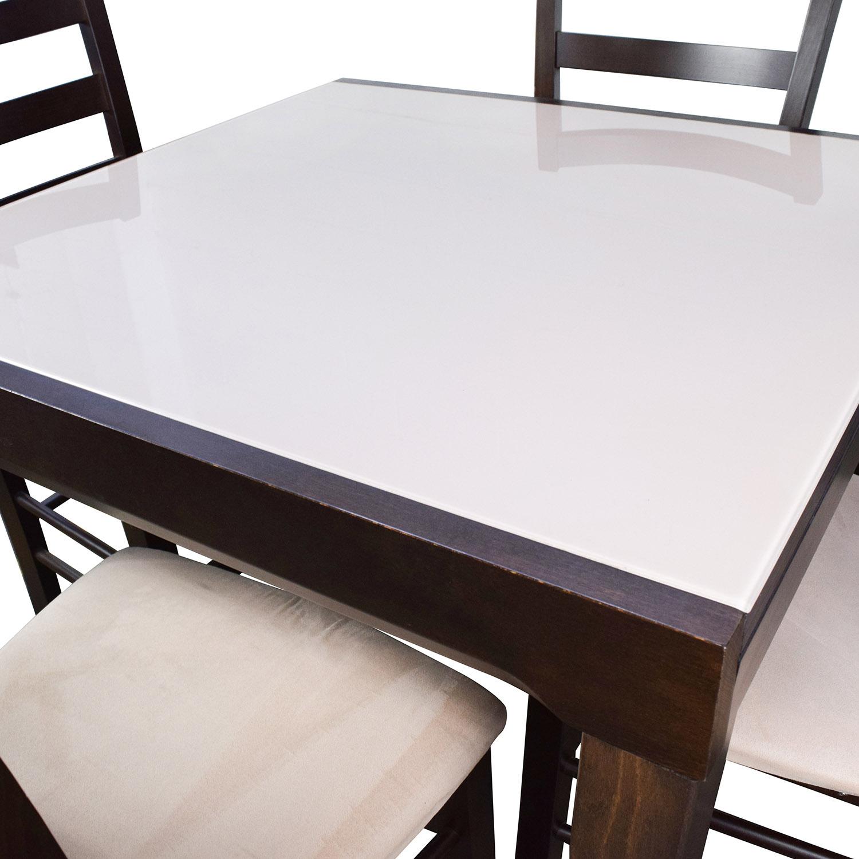Cafe Latte Dining Table Caf 233 Latte 5 Dining Set Glass
