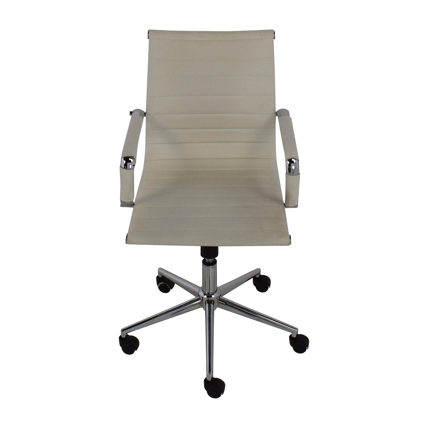buy 2xhome 2Xhome Modern Mid Back White Faux Leather Office Chair online