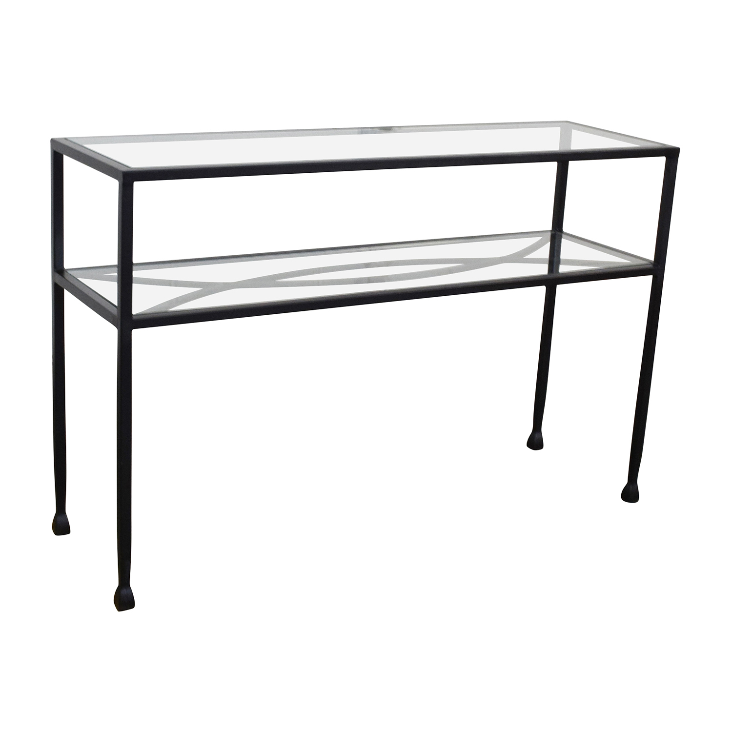 84 Off Pier 1 Pier 1 Glass Console Or Sofa Back Table Tables
