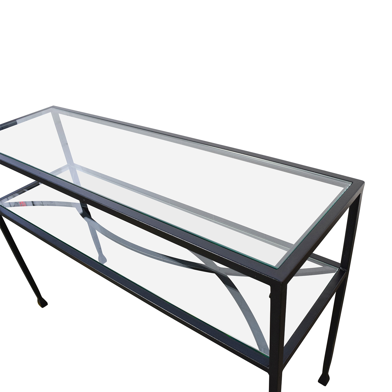 84 Off Pier 1 Pier 1 Glass Console Or Sofa Back Table