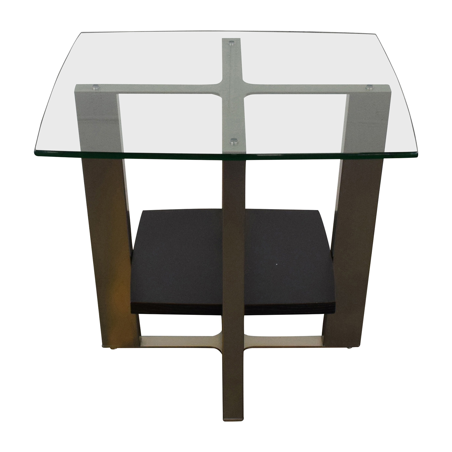 shop Jensen Lewis Jensen Lewis Glass Top and Chrome End Table online
