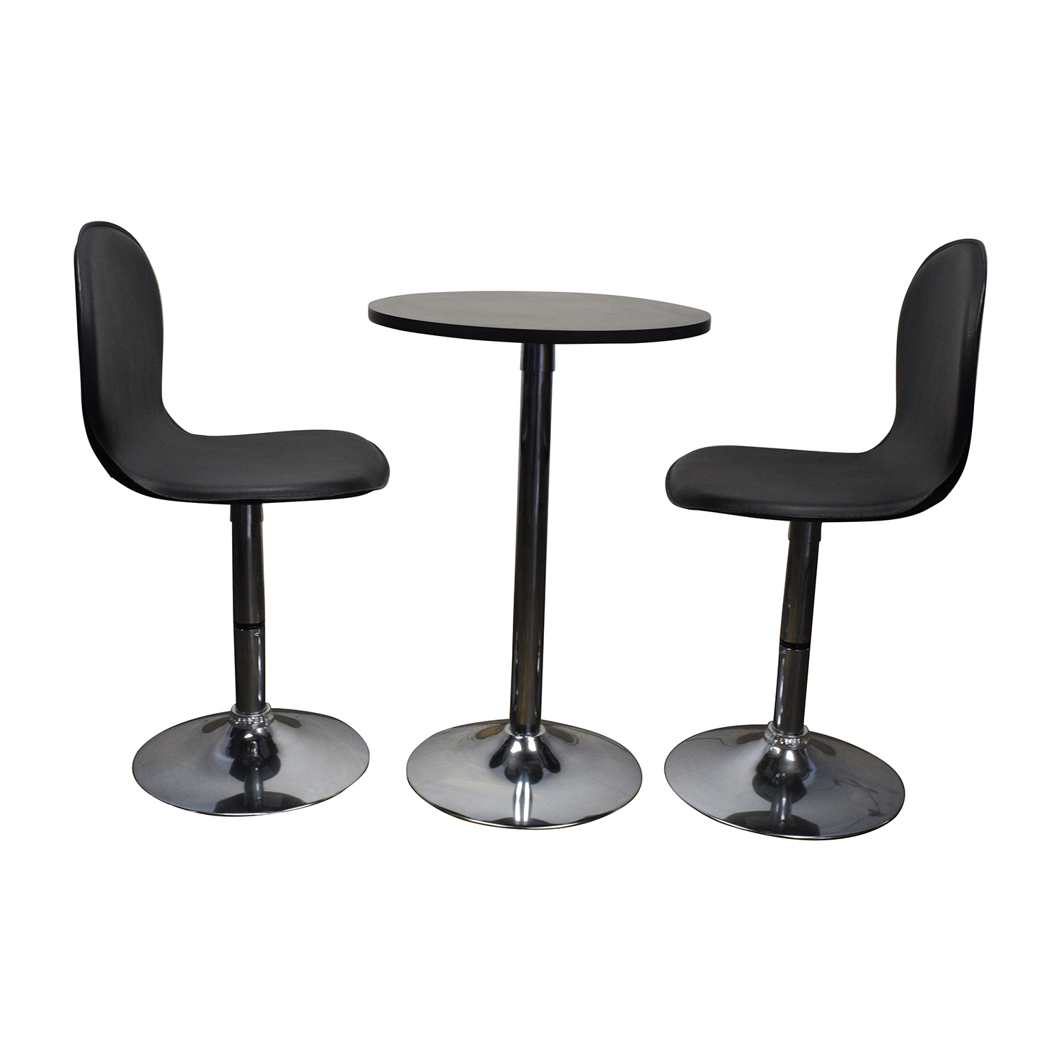 Target Target Cafe Table and Leather Chairs discount