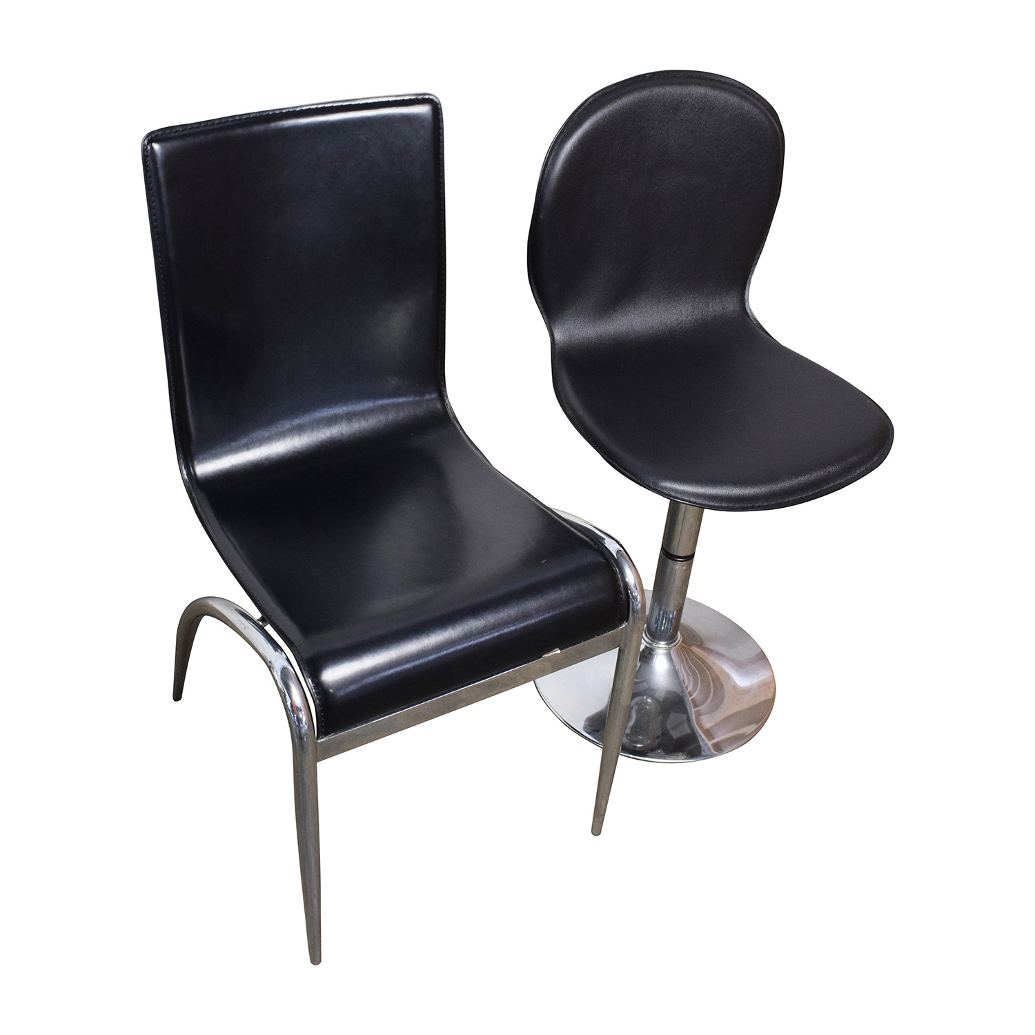 ... The Door Store Rectangular Glass Table With Four Leather Chairs The Door  Store