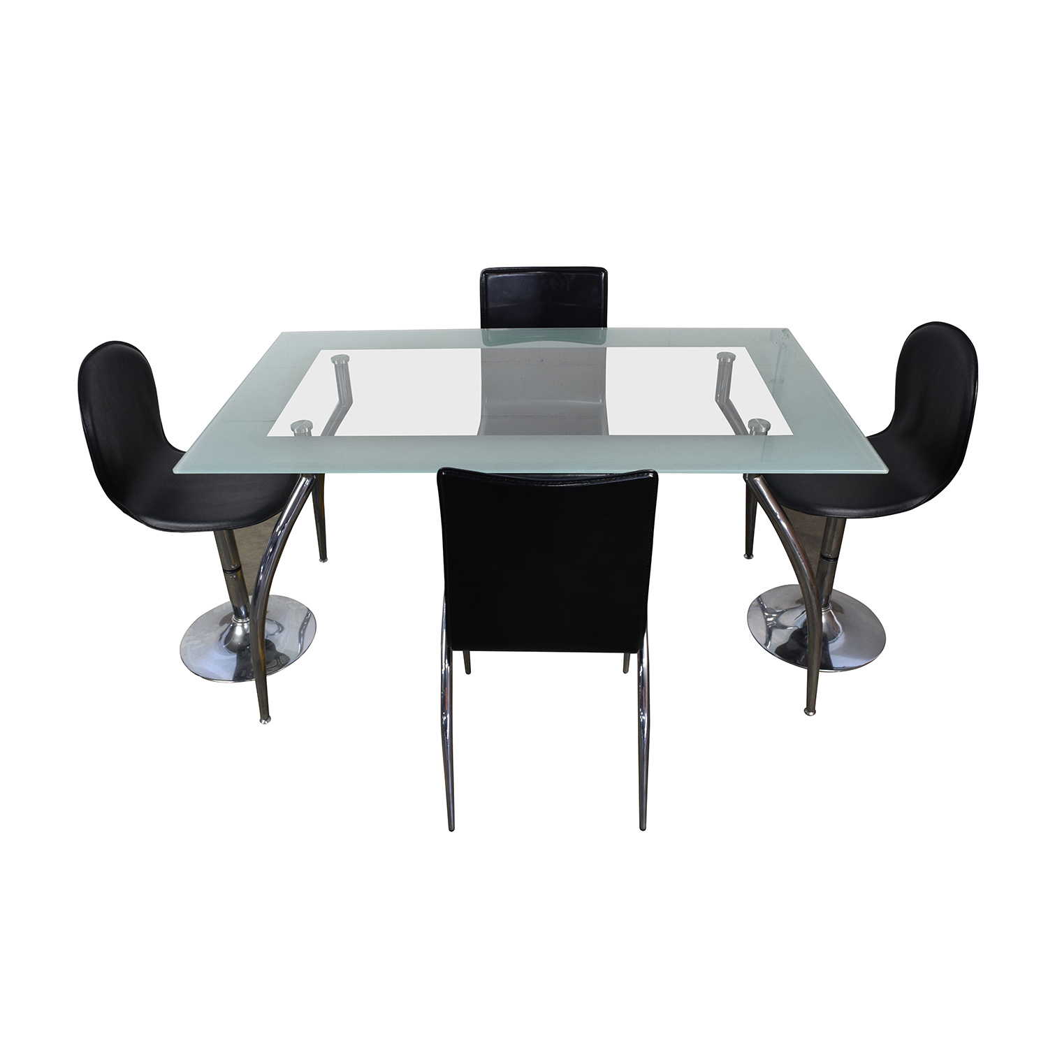 39 off the door store the door store rectangular glass for Glass table and chairs
