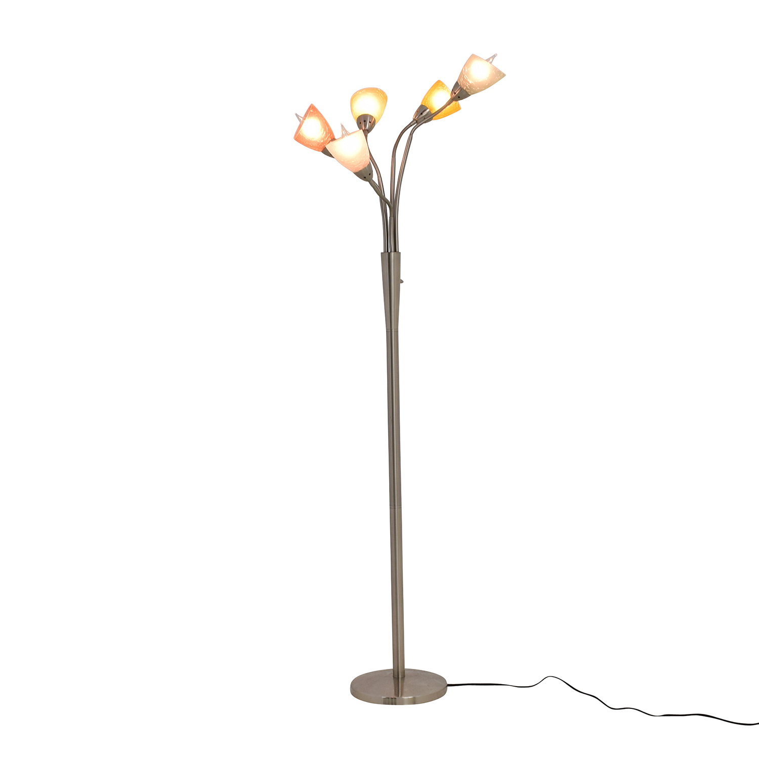 buy Fortunoff Glass Shade Floor Lamp Fortunoff Decor
