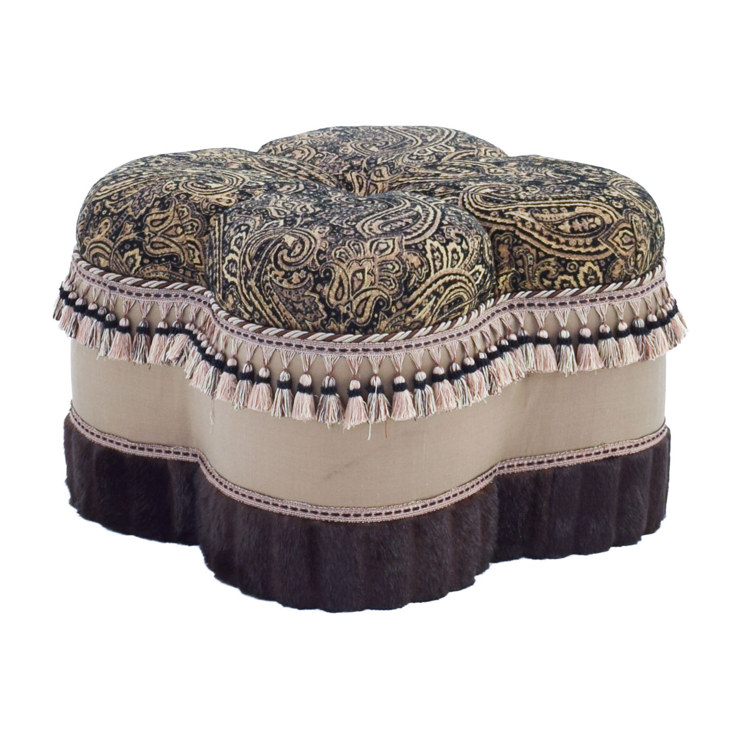 Astonishing 71 Off Bombay Company Bombay Co Paisley Faux Fur Ottoman Chairs Gmtry Best Dining Table And Chair Ideas Images Gmtryco