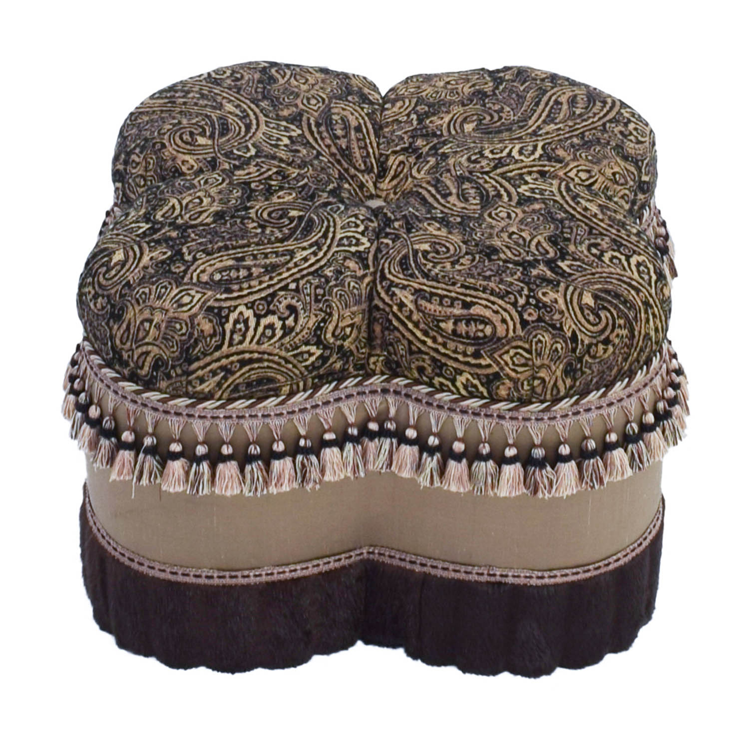 Bombay Co Bombay Co Paisley Faux Fur Ottoman coupon
