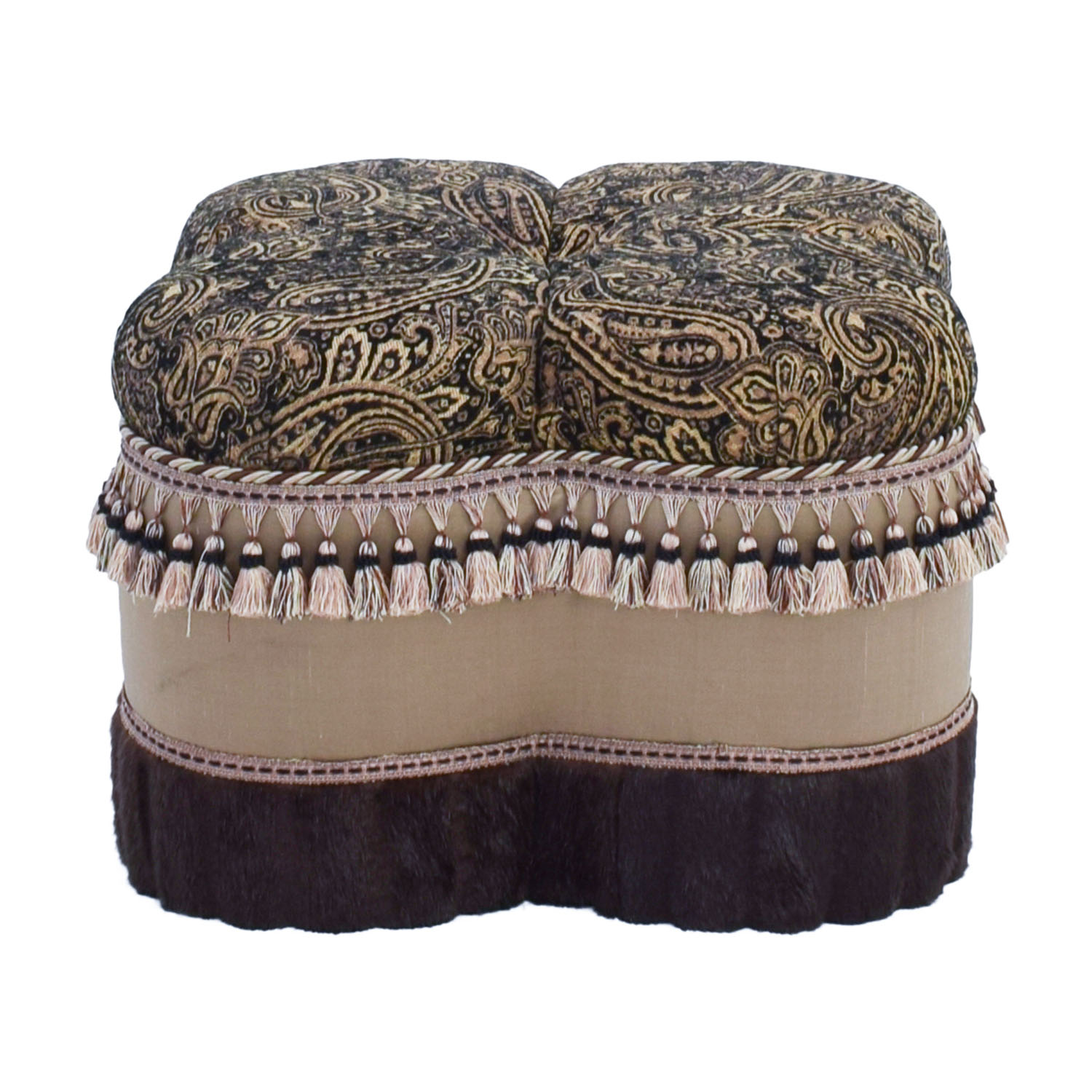 Bombay Co Bombay Co Paisley Faux Fur Ottoman price