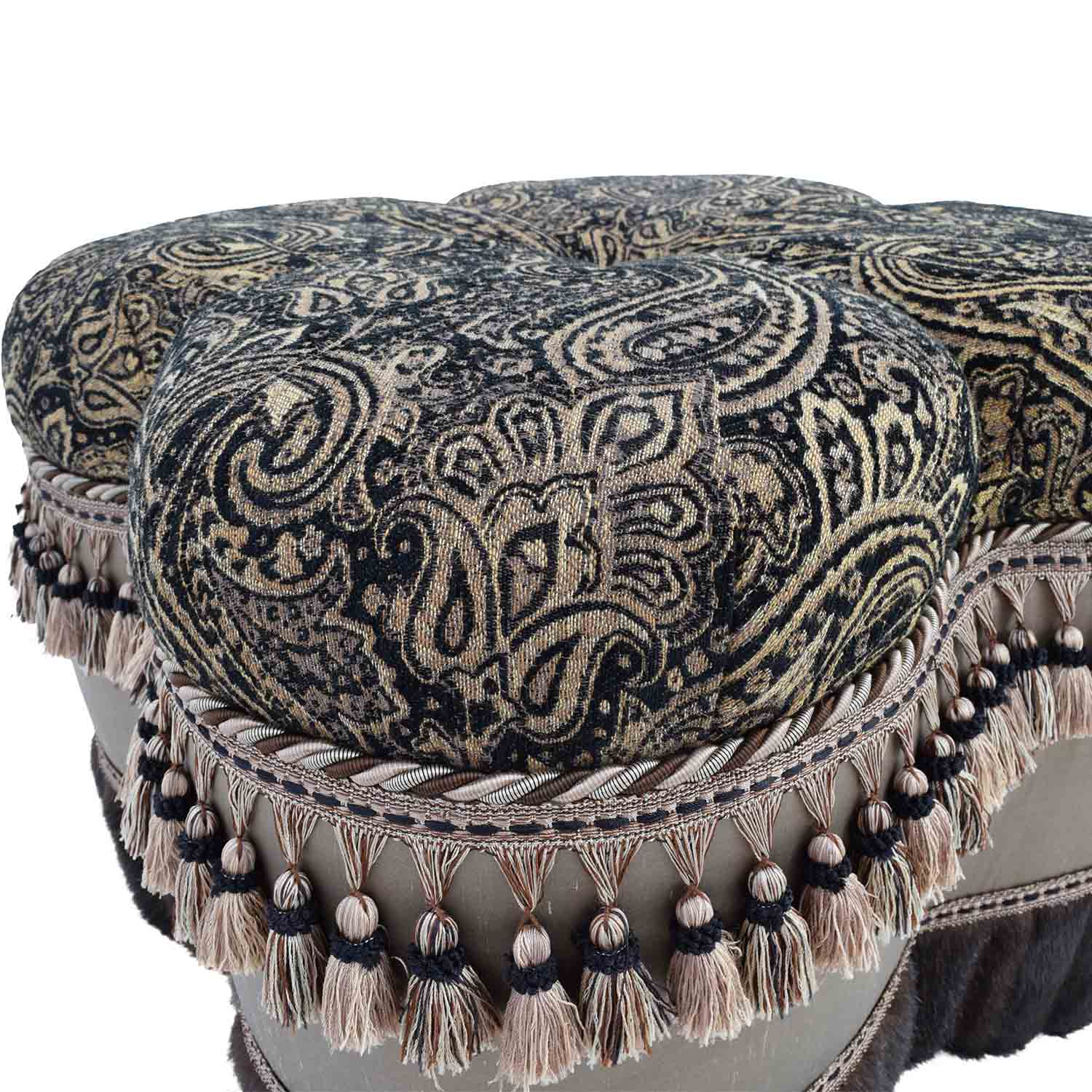 71 Off Bombay Co Bombay Co Paisley Faux Fur Ottoman