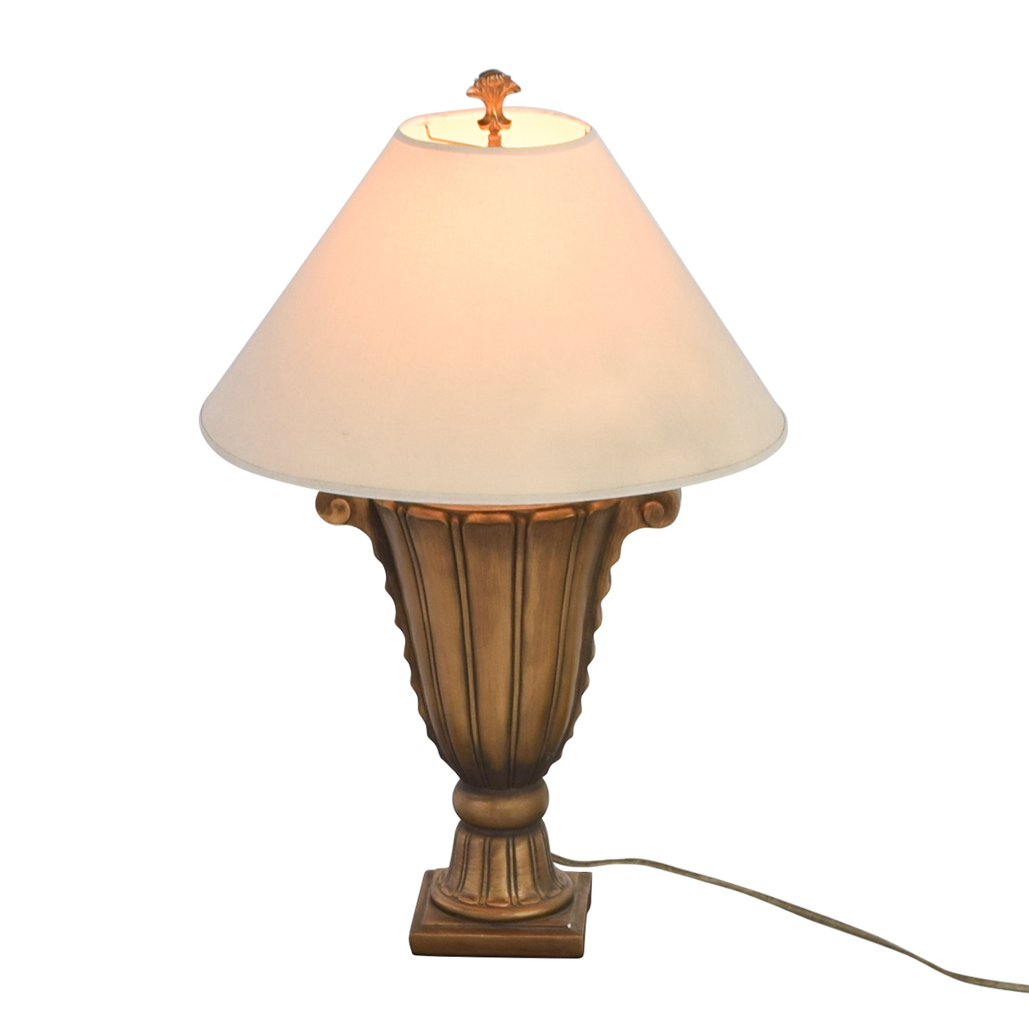 shop Rooms To Go Rooms To Go Gold Scroll Lamp online