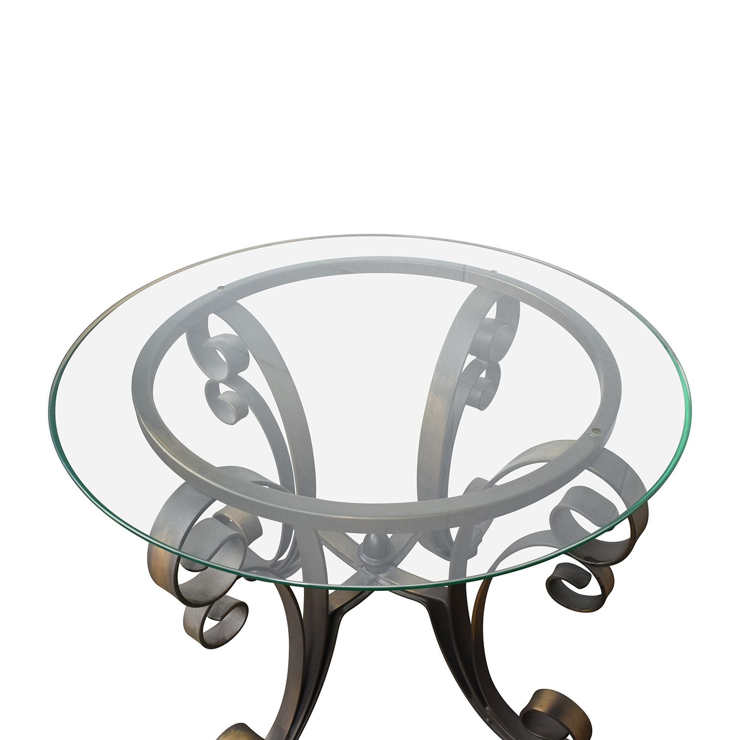 Superieur ... Shop Rooms To Go Glass Top Side Table With Bronze Base Rooms To Go End  Tables