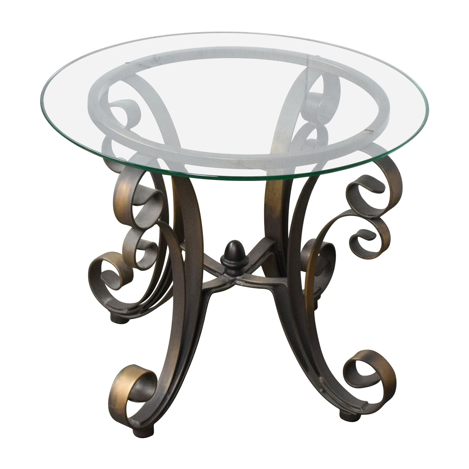 90 off rooms to go rooms to go glass top side table with bronze