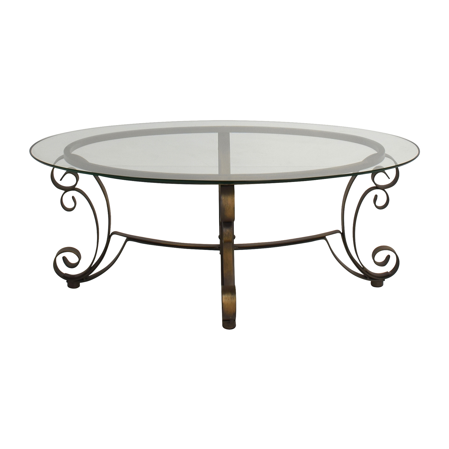 90 Off Rooms To Go Metal Oval Coffee Table Tables