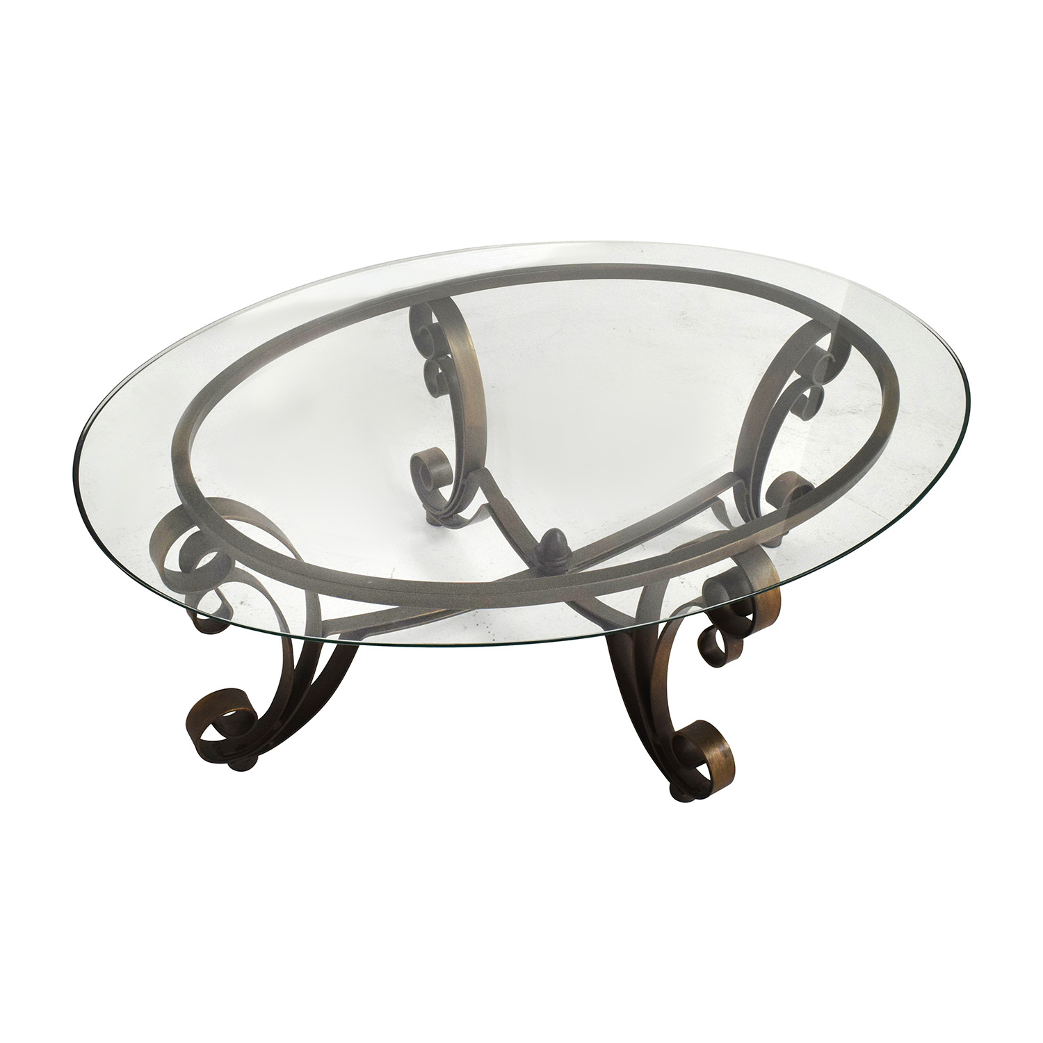 OFF Rooms to go Rooms to Go Metal Oval Coffee Table Tables
