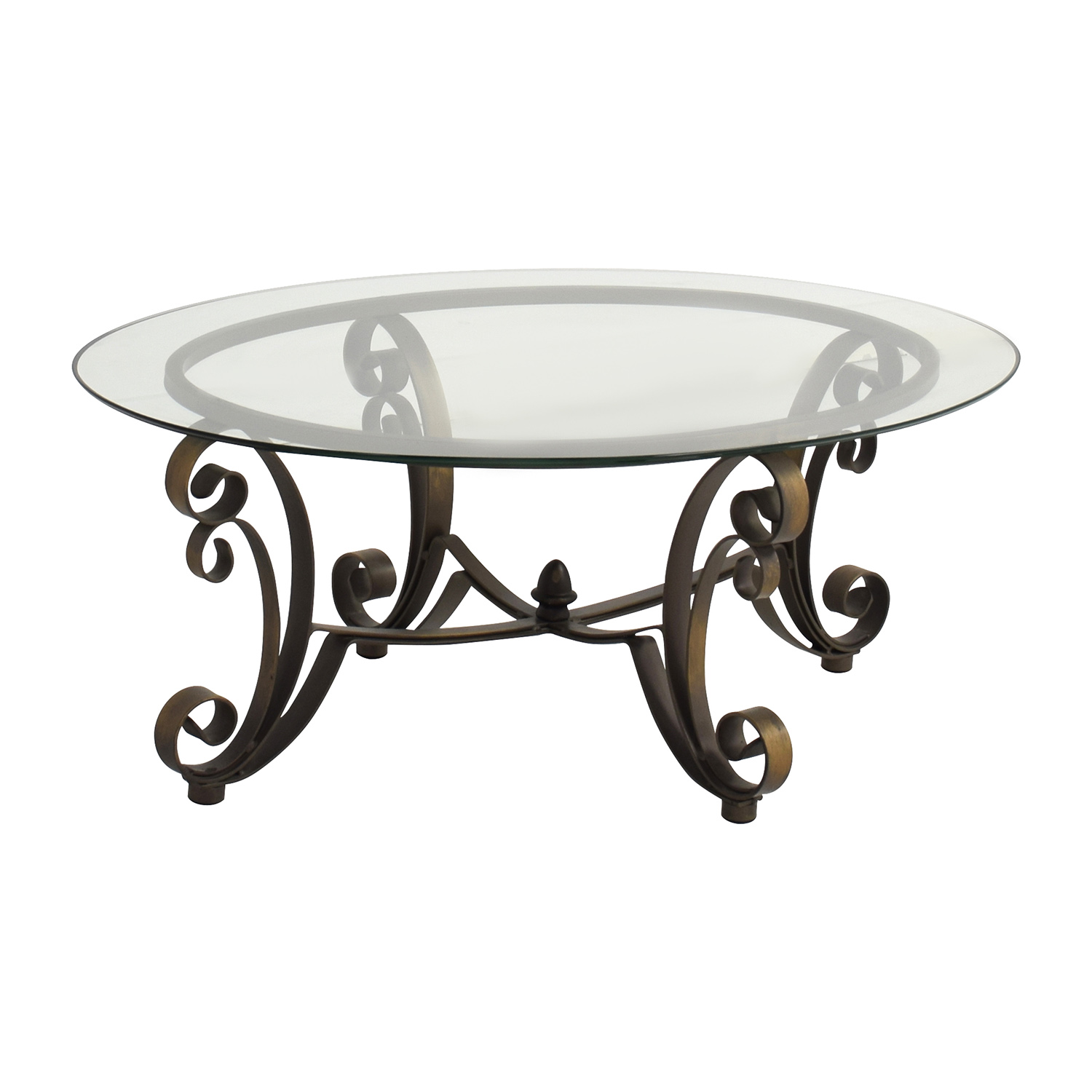 84% off - rooms to go rooms to go metal oval coffee table / tables