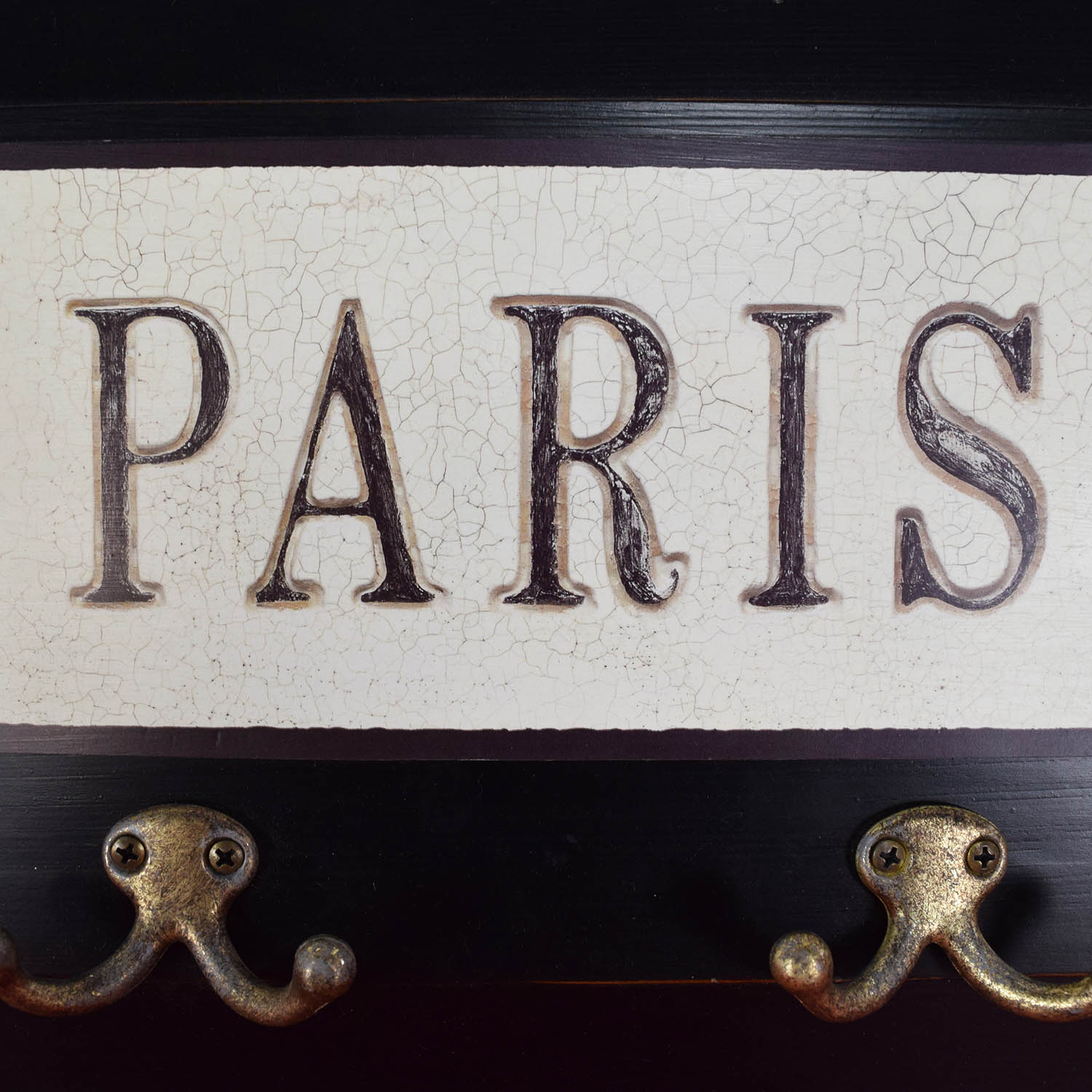 Paris Wall Hanging Coat Rack Decor