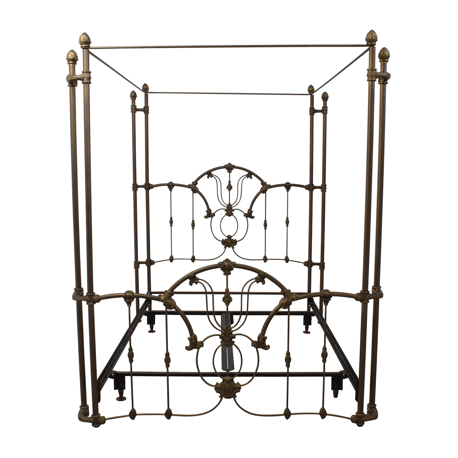 Bronze Metal Canopy Queen Bed Frame sale