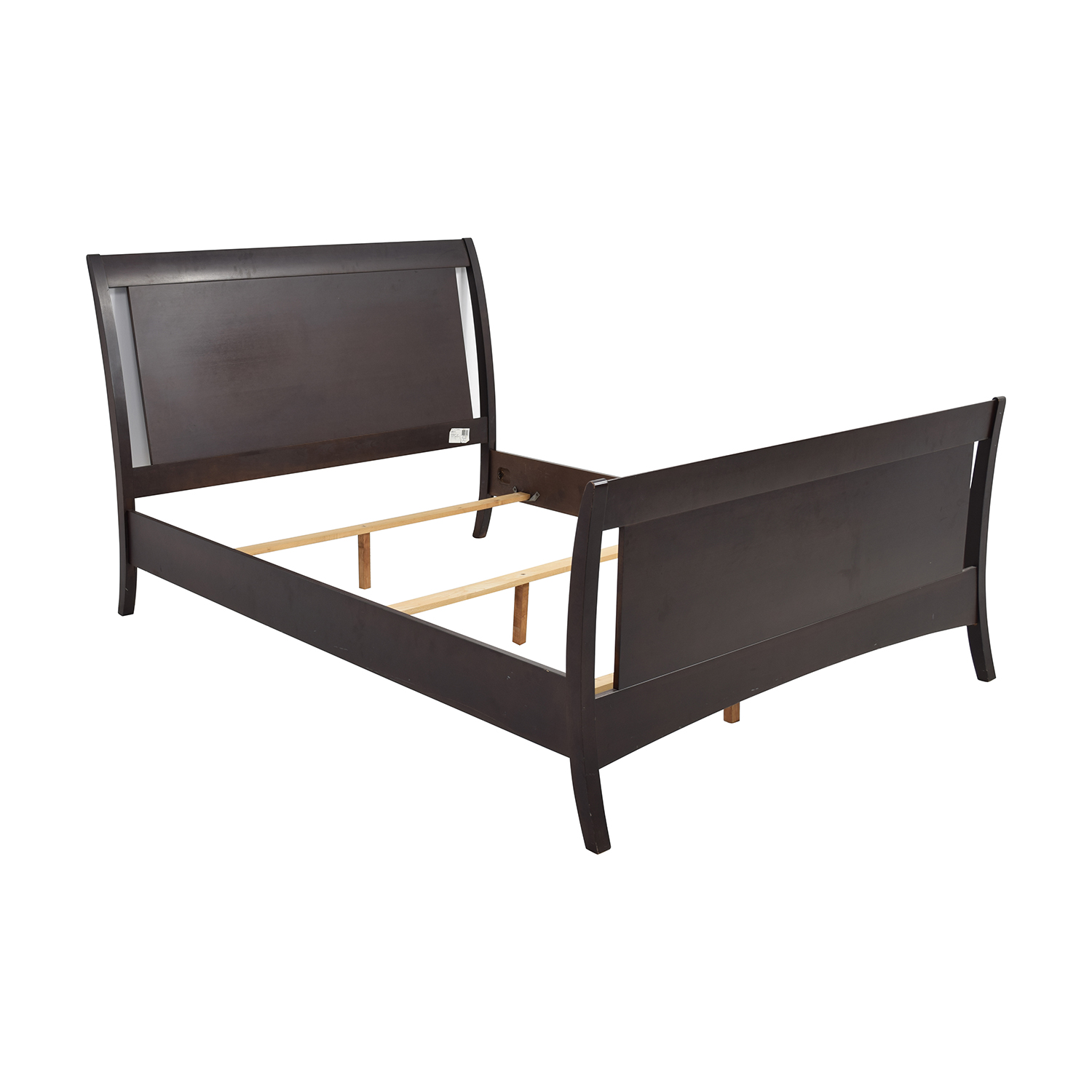 72 off macy s furniture collection macy s dark wood 10236 | macys dark wood queen sleigh bed frame second hand