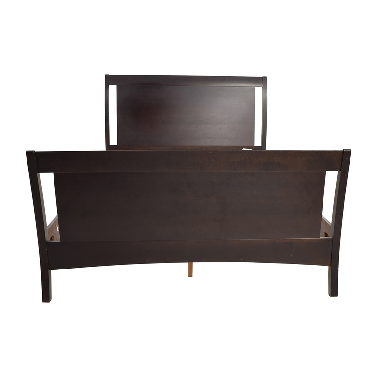 Macy's Furniture Collection Macy's Dark Wood Queen Sleigh Bed Frame price
