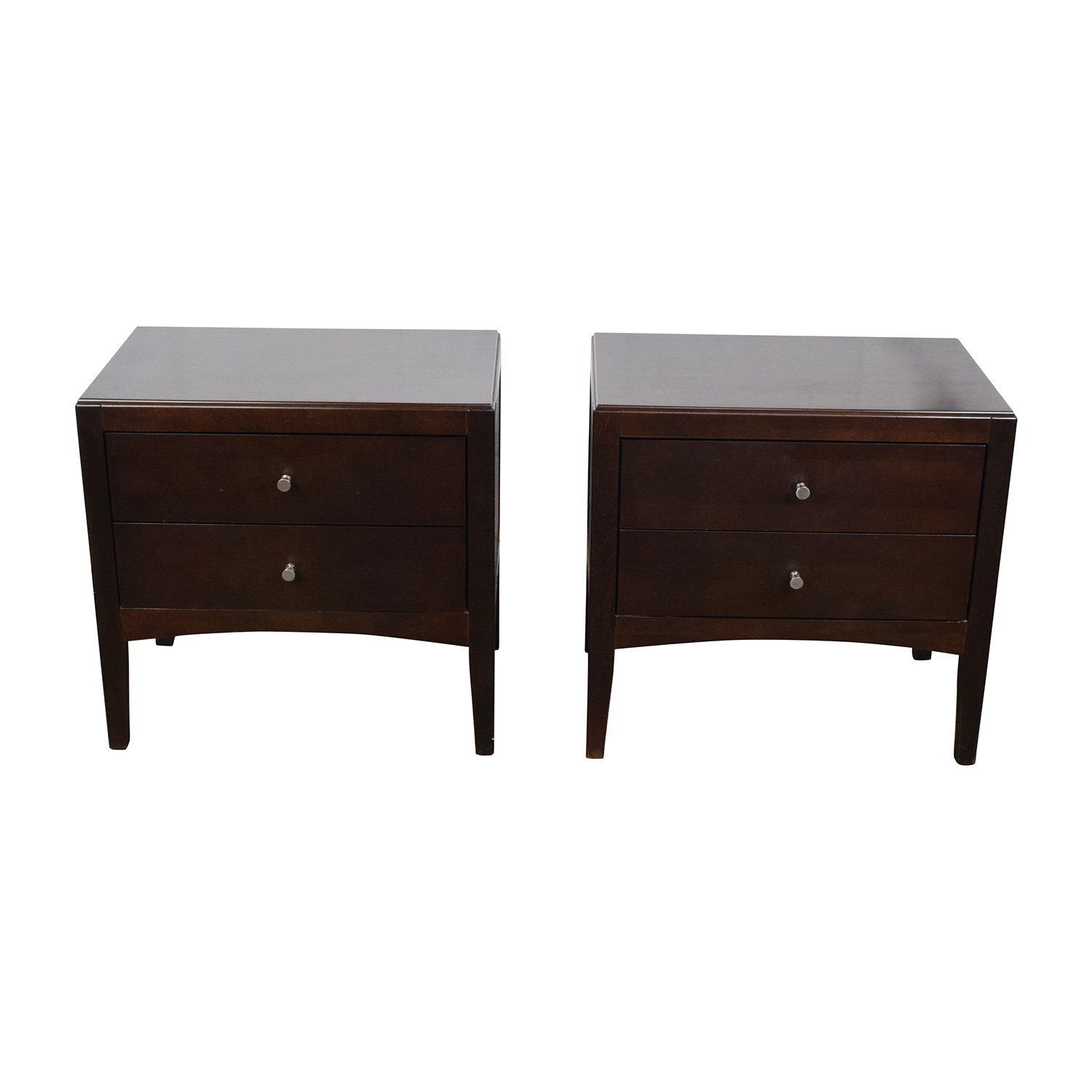 44% OFF Macy s Macy s Dark Wood Two Drawer Nightstands Tables