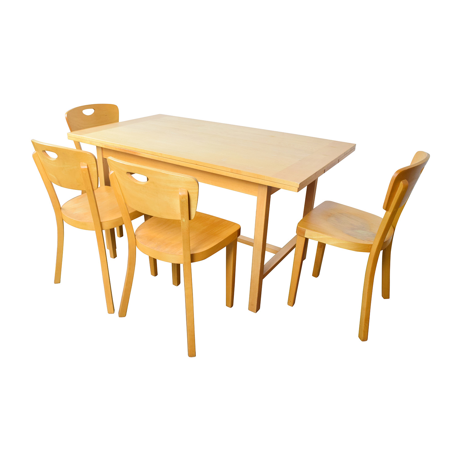 IKEA IKEA Side Extendable Dining Table And Four
