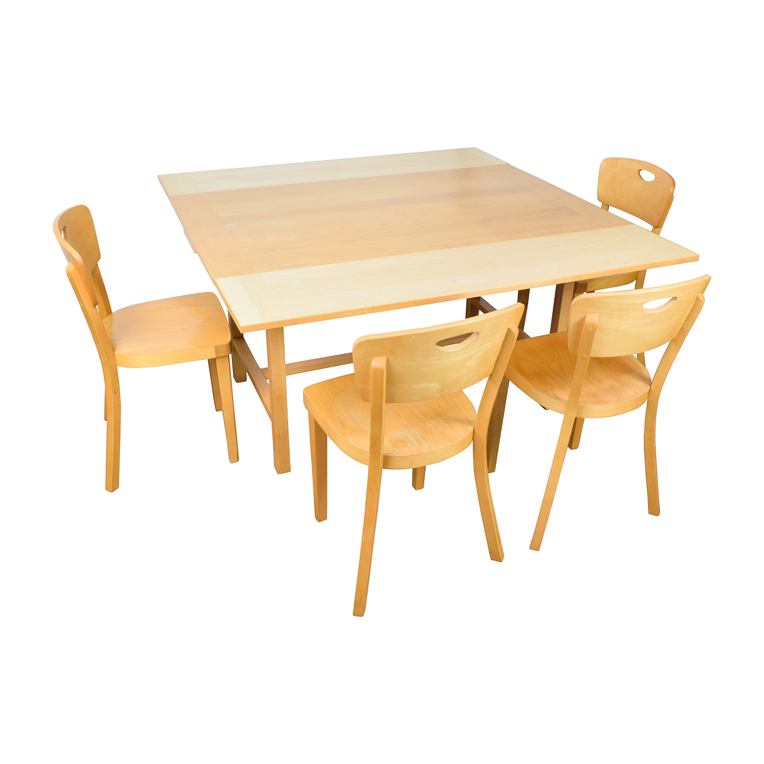 68 Off Ikea Ikea Side Extendable Dining Table And Four