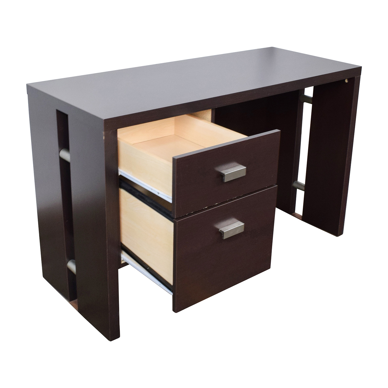 Walmart Walmart Brown Desk With Two-Drawers / Tables