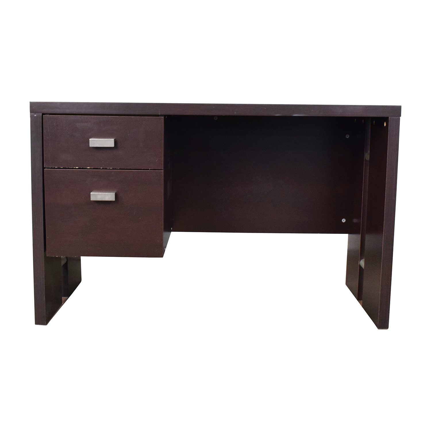 office desk walmart. Walmart Brown Desk With Two-Drawers Coupon Office