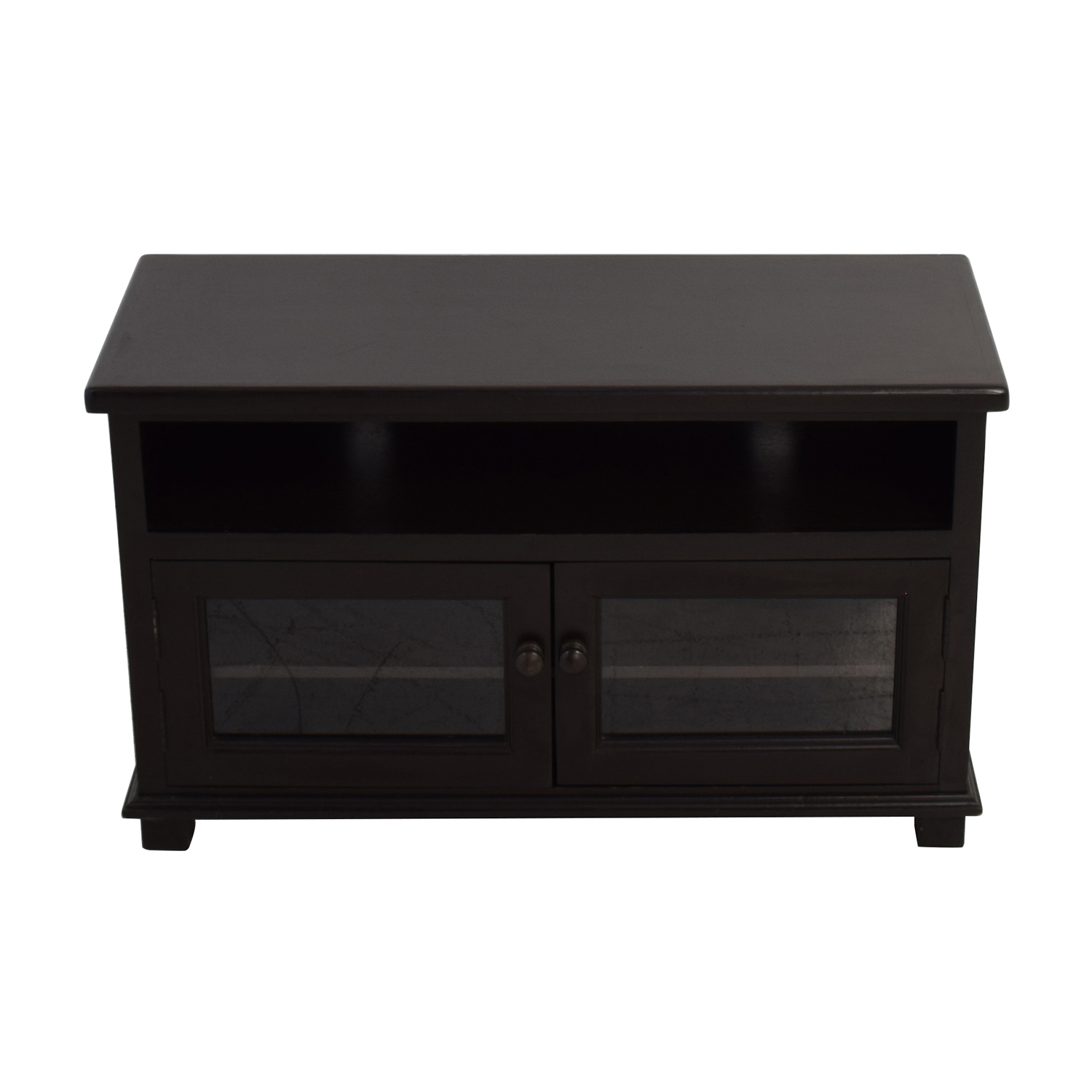 Dark Brown TV Stand with Storage brown