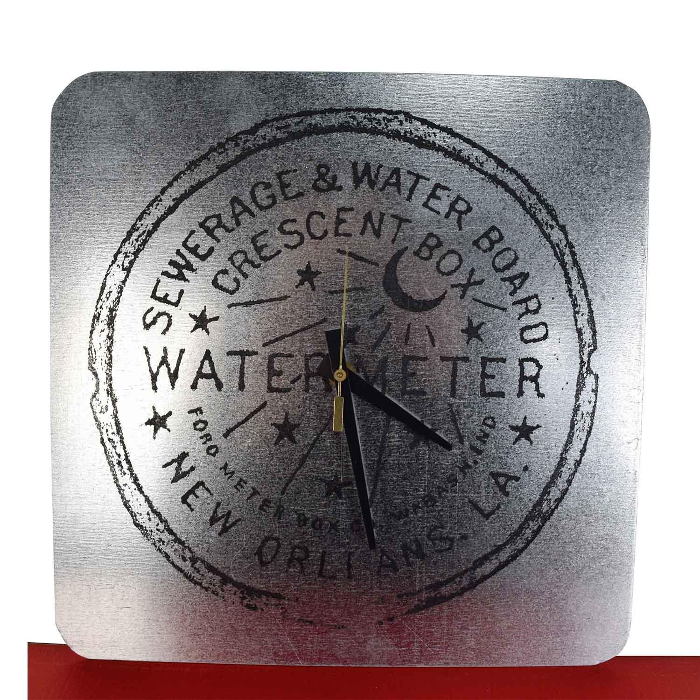 Silver Watermeter New Orleans Clock nj